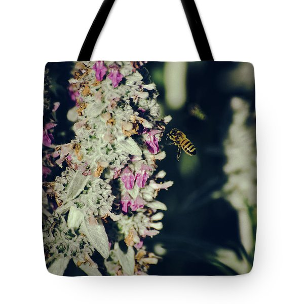 Buzzing In My Lamb's Ear Tote Bag