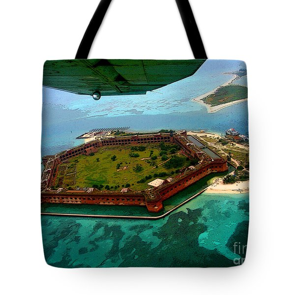Buzzing The Dry Tortugas Tote Bag