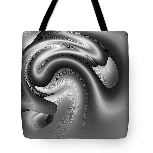 Tote Bag featuring the digital art Bw Art 9 by Visual Artist Frank Bonilla