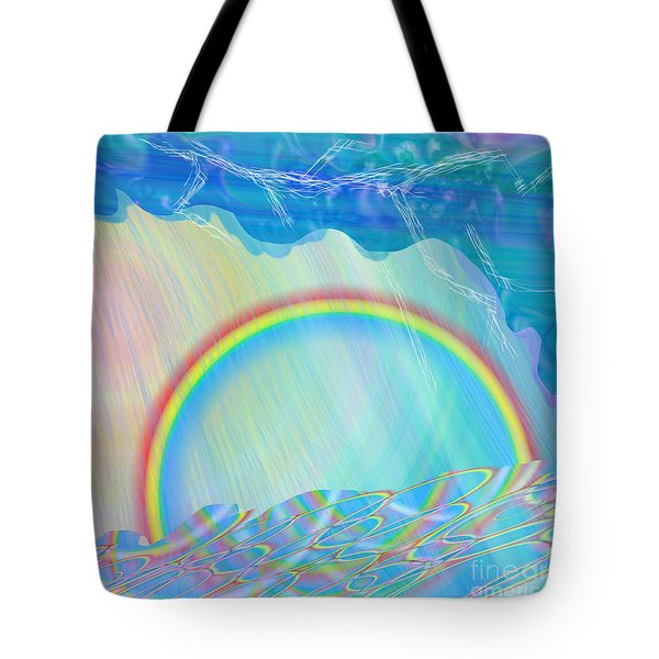 By Day And By Rain Tote Bag