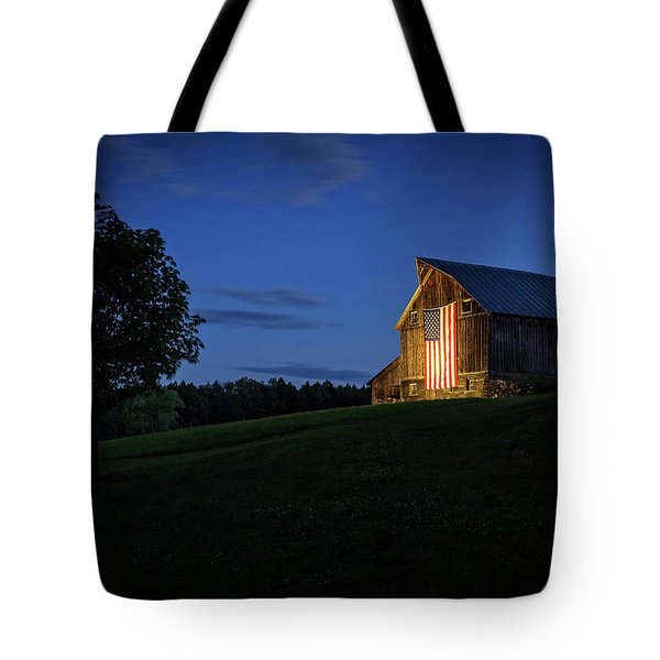 Old Glory By Dusks Early Light Tote Bag