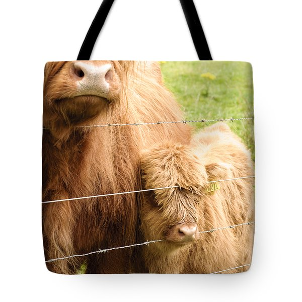 Tote Bag featuring the photograph By Mama's Side by Christi Kraft