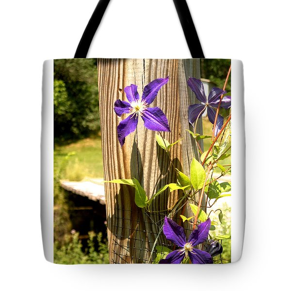 Tote Bag featuring the photograph By The Bridge by R Thomas Berner