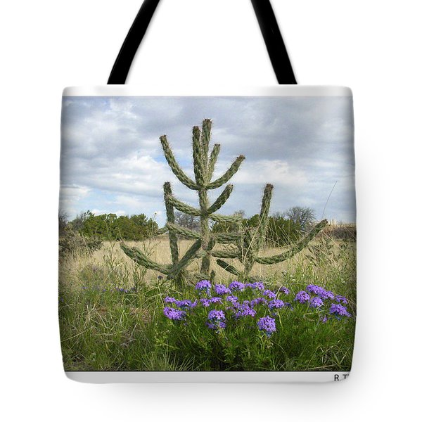 By The Cactus Tote Bag by R Thomas Berner