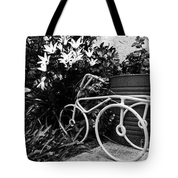 By The Flower Garden. Tote Bag
