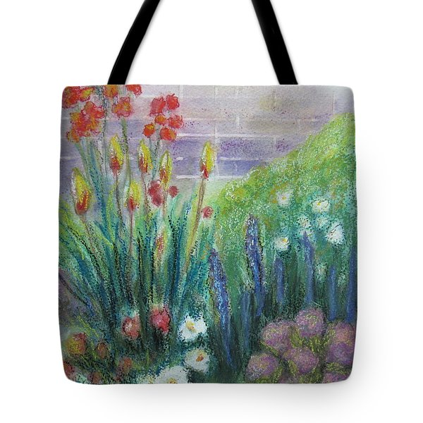 By The Garden Wall Tote Bag