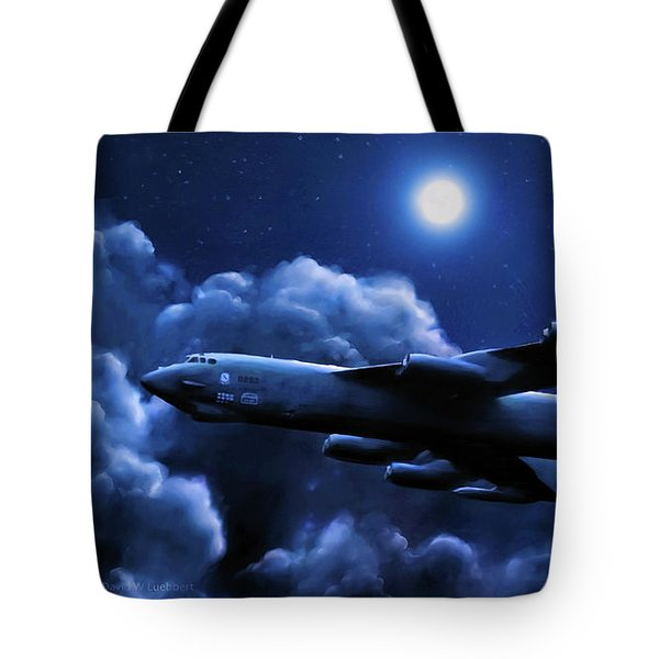 By The Light Of The Blue Moon Tote Bag by Dave Luebbert
