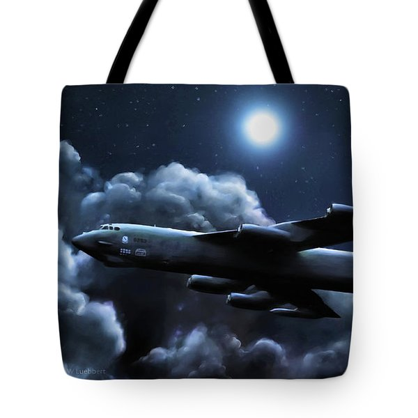 Tote Bag featuring the painting By The Light Of The Silvery Moon by Dave Luebbert