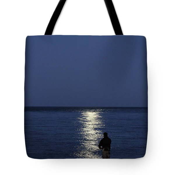By The Light Of The Supermoon Tote Bag by John Loreaux