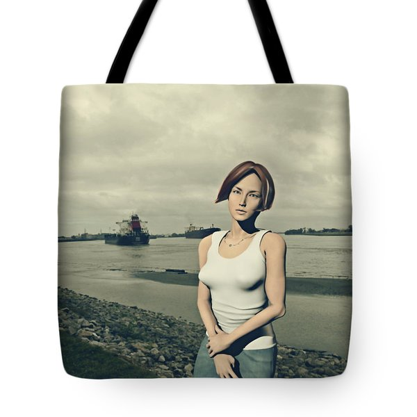 by the muddy Mississippi Tote Bag
