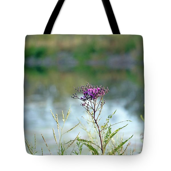 Tote Bag featuring the photograph By The Pond by Lila Fisher-Wenzel