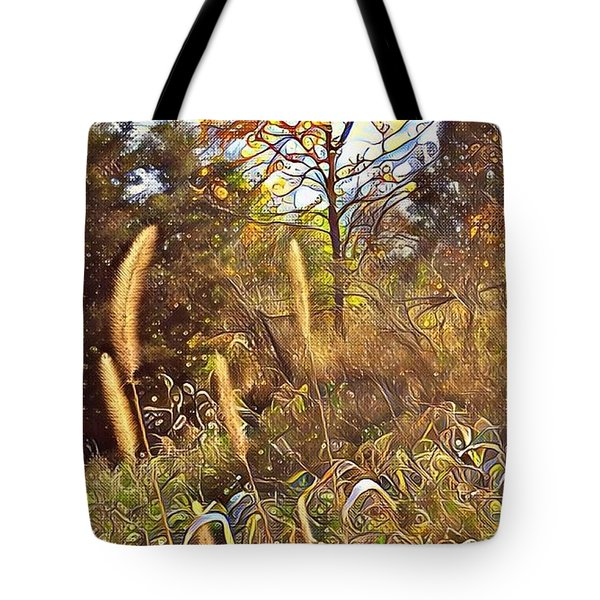 By The Railroad Tracks Tote Bag