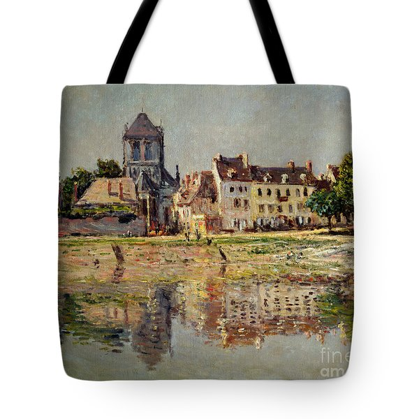 By The River At Vernon Tote Bag