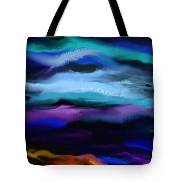 Tote Bag featuring the painting By The Sea by Rushan Ruzaick