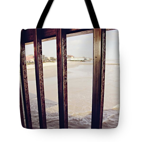 Tote Bag featuring the photograph By The Sea by Trish Mistric