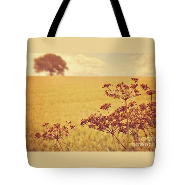 Tote Bag featuring the photograph By The Side Of The Wheat Field by Lyn Randle
