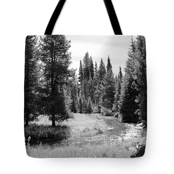Tote Bag featuring the photograph By The Stream by Christin Brodie
