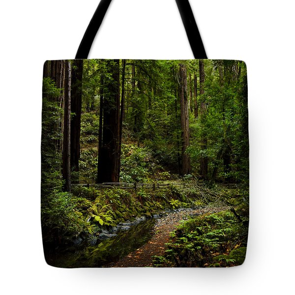 By The Stream In Muir Woods Tote Bag