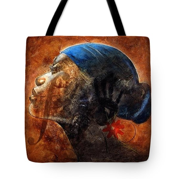 Tote Bag featuring the painting By Your Faith by Christopher Marion Thomas