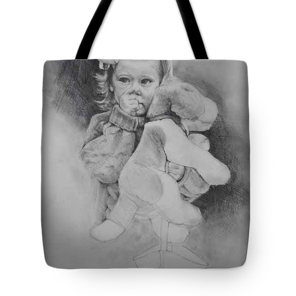 Tote Bag featuring the drawing Bye-bye Bag by Jani Freimann