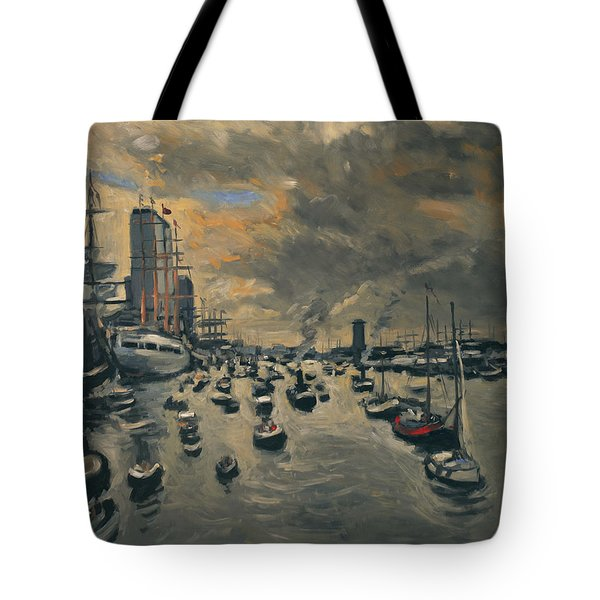 Tote Bag featuring the painting Bye Bye Sail Amsterdam by Nop Briex