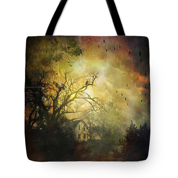 Bygone House On The Hill Tote Bag