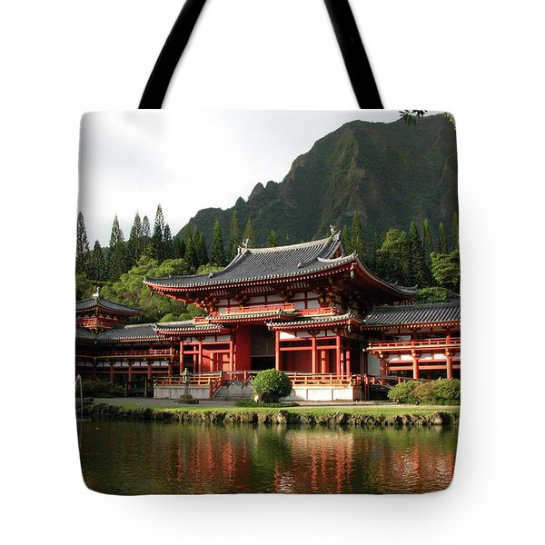 Tote Bag featuring the photograph Byodo-in Temple, Oahu, Hawaii by Mark Czerniec