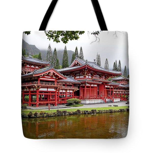 Byodo-in Temple Oahu Tote Bag