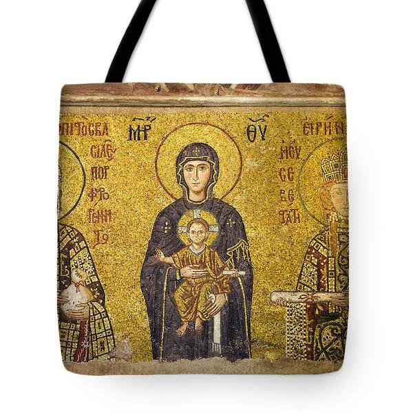 Byzantine Mosaic In Hagia Sophia Tote Bag