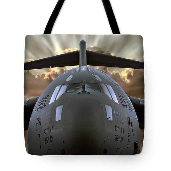 C-17 Globemaster Military Transport Aircraft Tote Bag