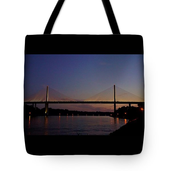C And D Canal Bridge Tote Bag by Ed Sweeney
