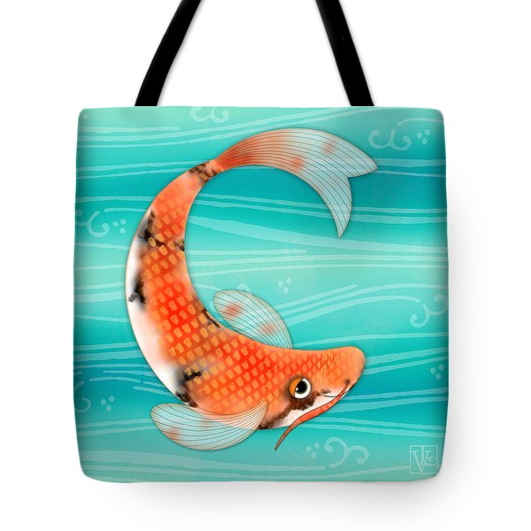 C Is For Cal The Curious Carp Tote Bag