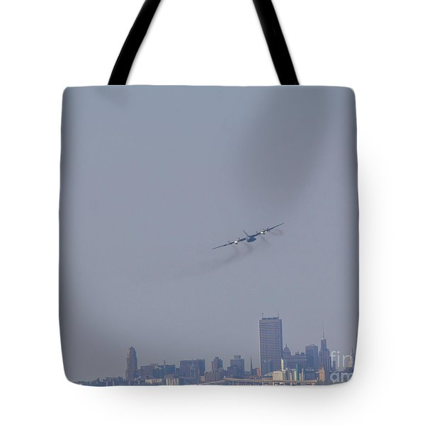 C130 Over Buffalo Tote Bag