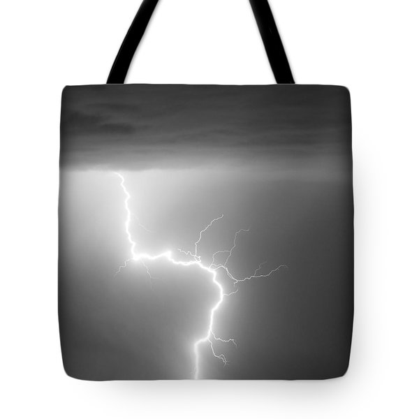 C2g Lightning Strike In Black And White Tote Bag by James BO  Insogna