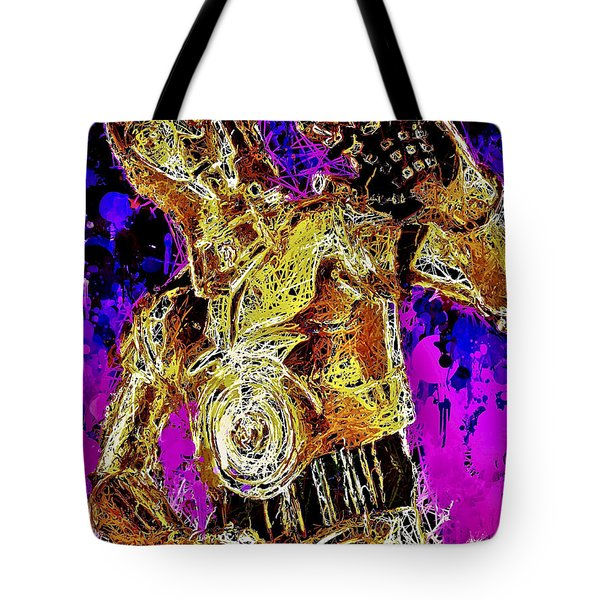 Tote Bag featuring the mixed media  C-3po by Matra Art