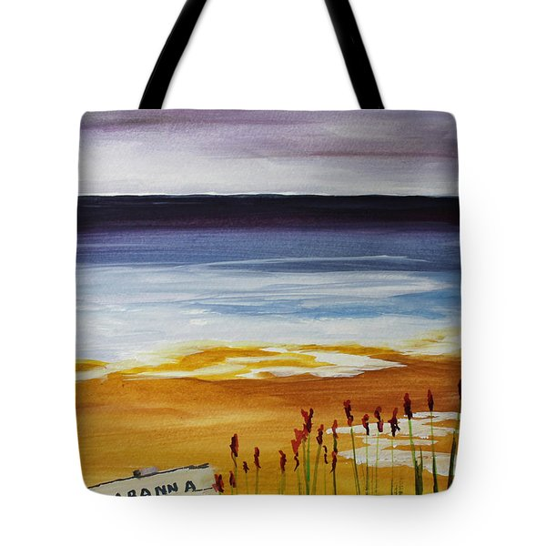 Tote Bag featuring the painting Cabana Rental by Jack G  Brauer