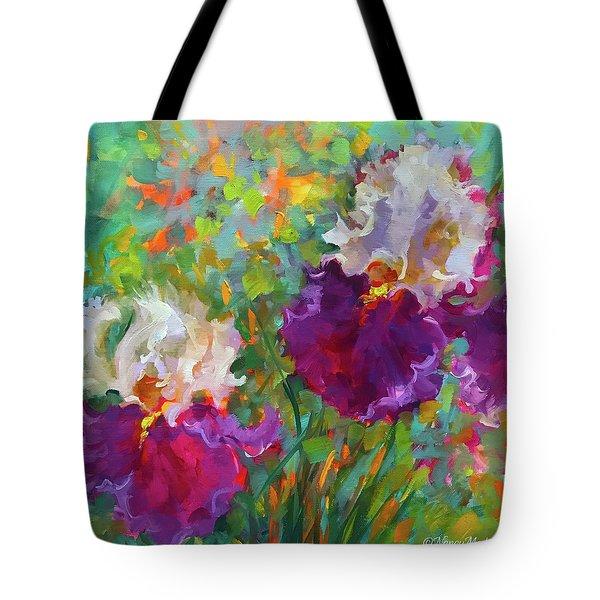 Cabaret Dancer Iris Garden Tote Bag