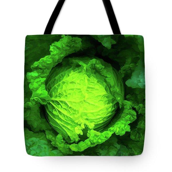 Cabbage 02 Tote Bag by Wally Hampton