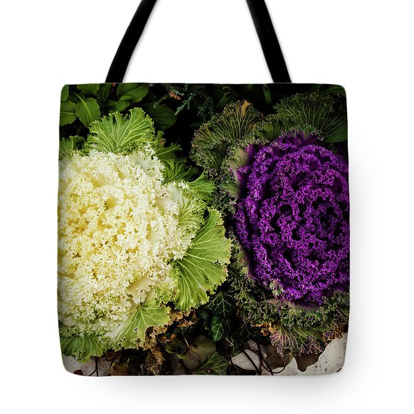 Cabbage Flowers Tote Bag