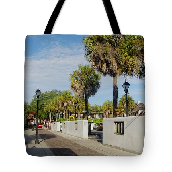 Cabbage Palms Along Hypolita Street Tote Bag