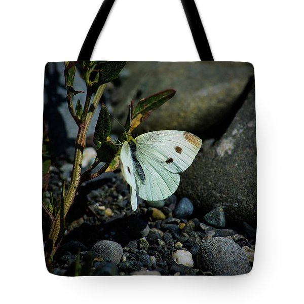 Tote Bag featuring the photograph Cabbage White Butterfly by Tikvah's Hope