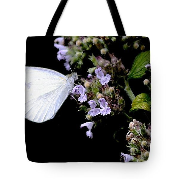 Cabbage White On Catnip Tote Bag