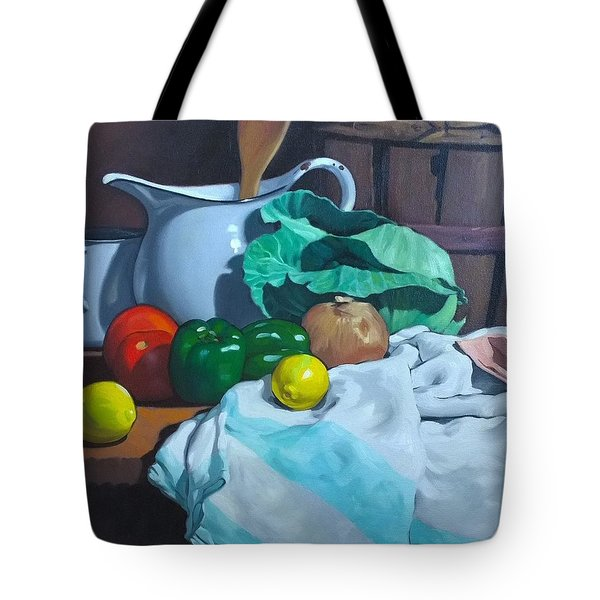 Cabbage3 Tote Bag by Kevin Lawrence Leveque