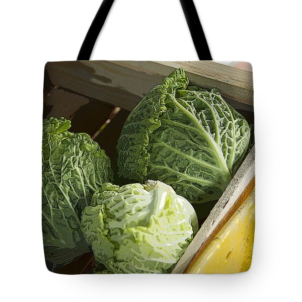 Tote Bag featuring the photograph Cabbages by Jeanette French
