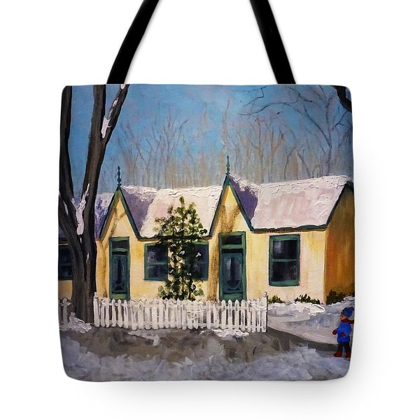 Cabbagetown Christmas Tote Bag