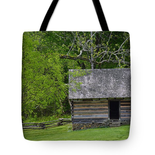 Cabin At Zebulon Vance Birthplace Tote Bag