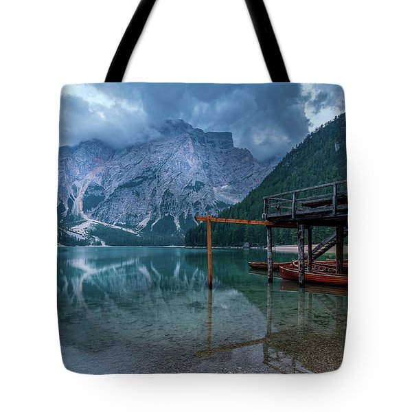 Cabin By The Lake Tote Bag