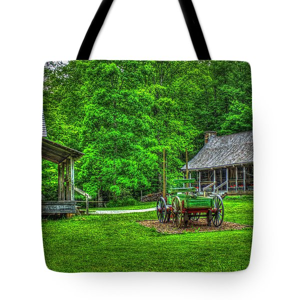 Tote Bag featuring the photograph Cabin Fever Great Smoky Mountains Art by Reid Callaway