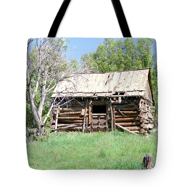 Cabin In The Mountains Tote Bag