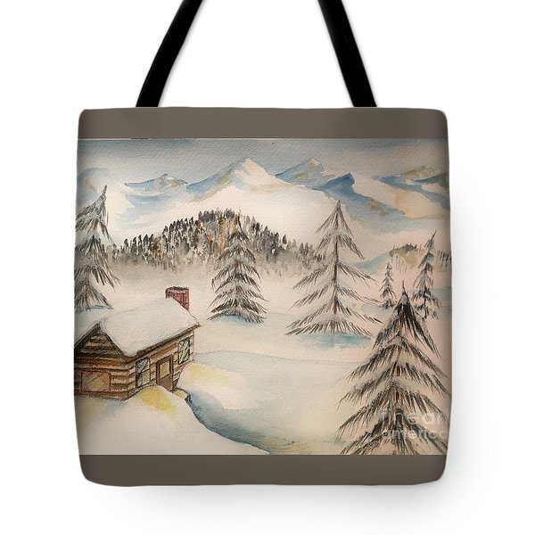 Cabin In The Rockies Tote Bag